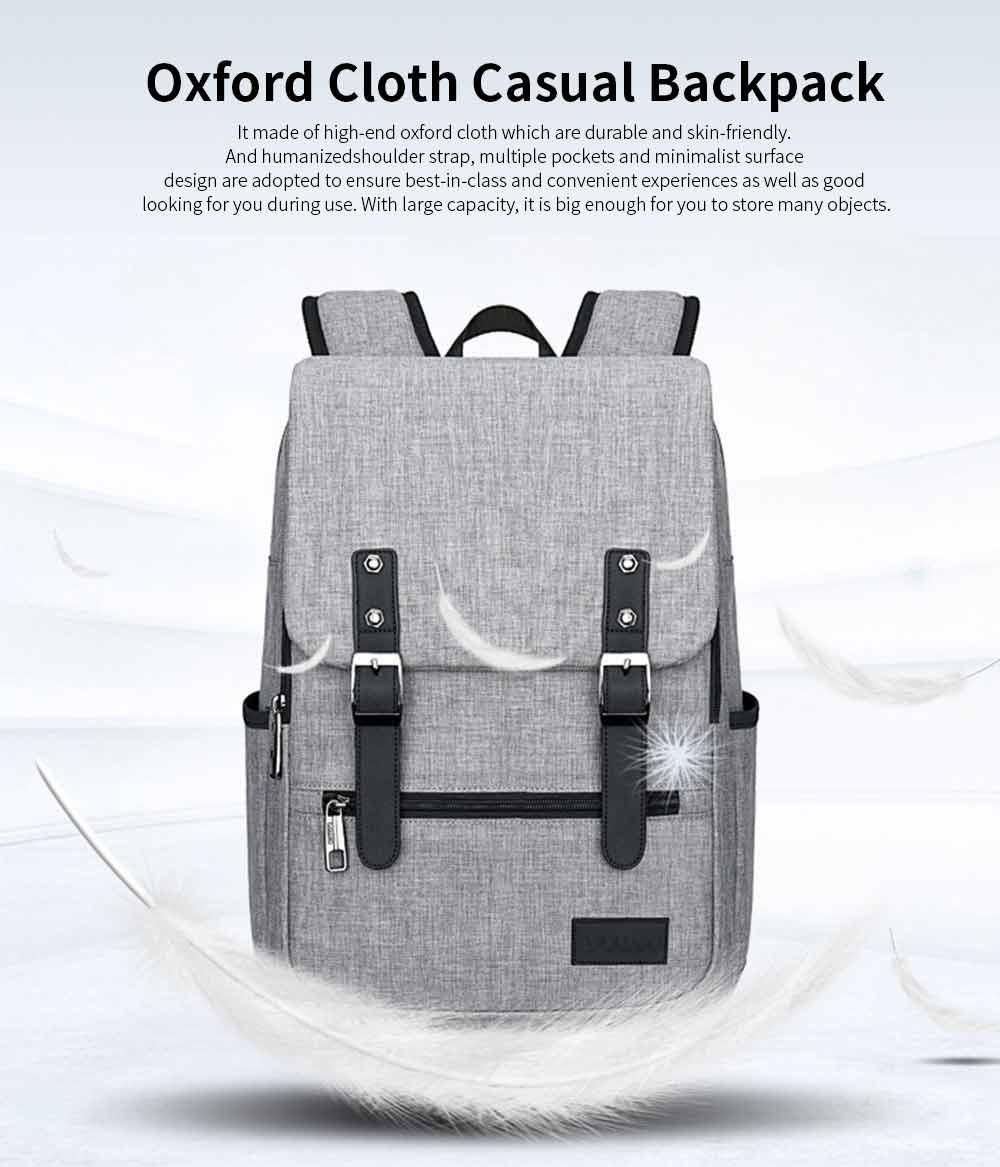 Oxford Cloth Casual Students Backpack, Fashion Minimalist Shoulder Bag Laptop Bag Travel Bag 0