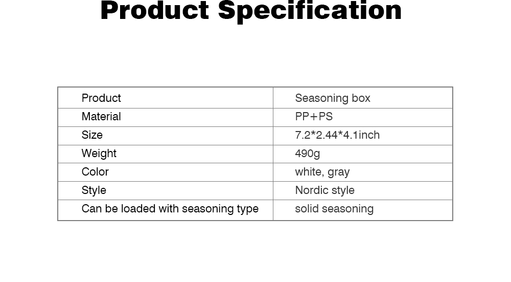 Transparent Plastic Seasoning Box, Six-Piece Set of Seasoning Bottle for Placing Salt, Sugar, Pepper 7