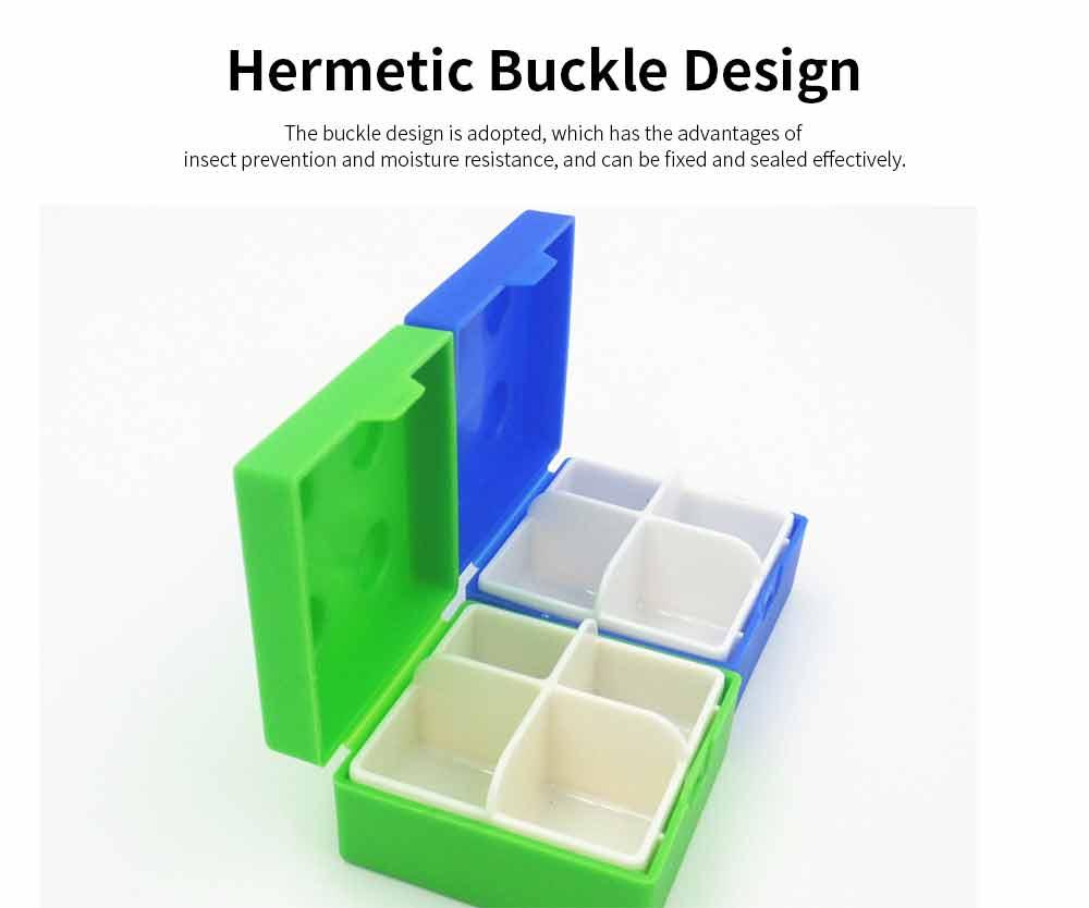 Colorful Building Blocks Pill Case, Mini Accessories Storage Box Cute Tablet Pill Medicine Organizer Container 4