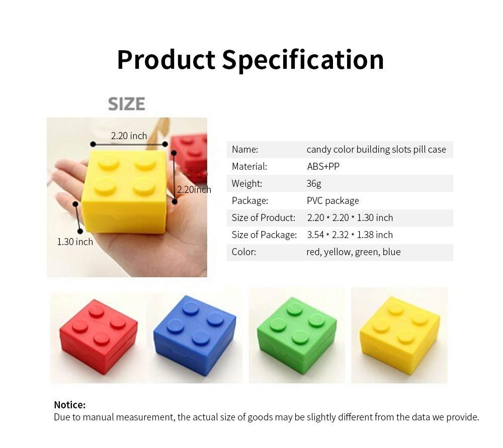 Colorful Building Blocks Pill Case, Mini Accessories Storage Box Cute Tablet Pill Medicine Organizer Container 6