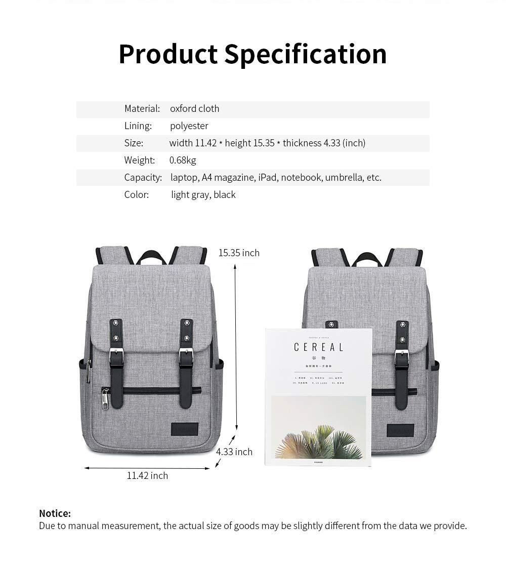 Oxford Cloth Casual Students Backpack, Fashion Minimalist Shoulder Bag Laptop Bag Travel Bag 8