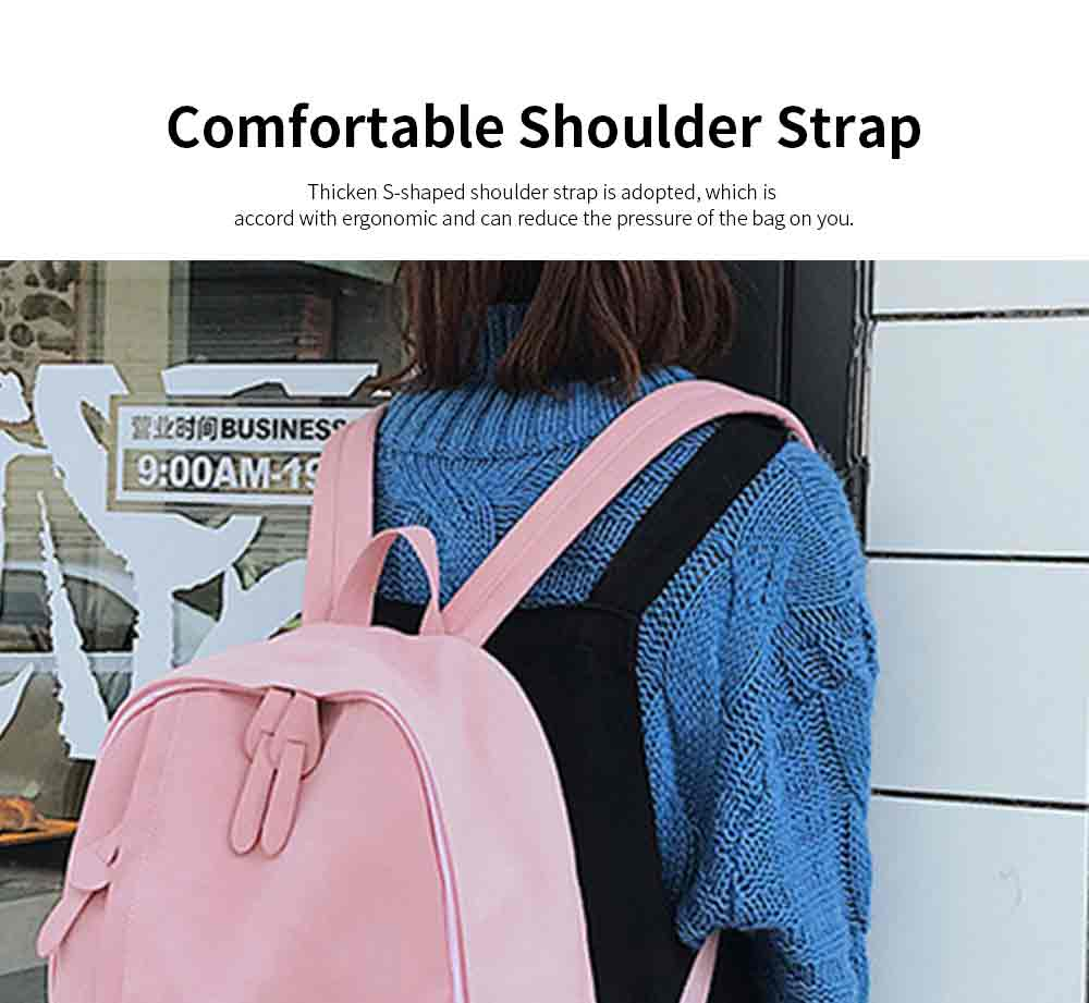 Fashion Contrast Colors Canvas Casual Backpack, Large Capacity Laptop Bag Travelling Backpack with Functional Front Pocket 3