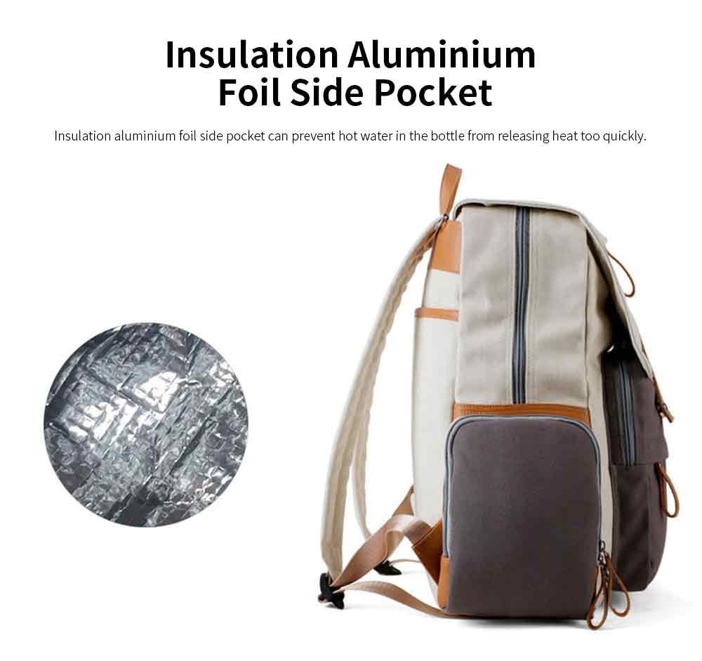 Multifunctional Tactical Pouch Cotton Canvas Backpack, Minimalist Casual Travelling Bag Laptop Bag, Large Capacity 5