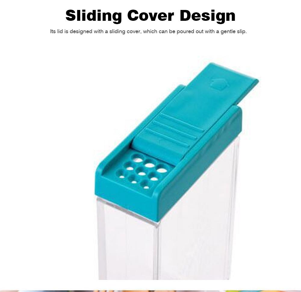 Transparent Plastic Seasoning Box, Six-Piece Set of Seasoning Bottle for Placing Salt, Sugar, Pepper 3