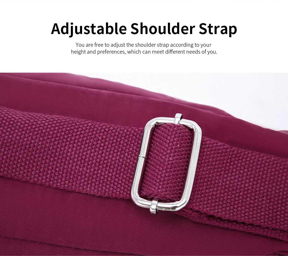 Waterproof High Density Nylon Mummy Shoulder Bag, Large Capacity Multiple Pockets Messenger Cross Body Hand Bag 3