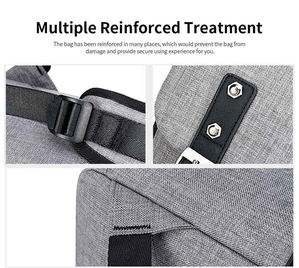 Oxford Cloth Casual Students Backpack, Fashion Minimalist Shoulder Bag Laptop Bag Travel Bag 6