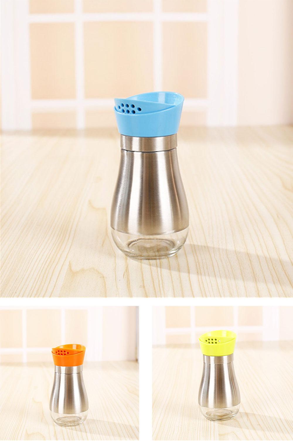Stainless-steel Sauce Bottle for Putting Pepper, Salt, Chicken Essence, Double-Opening Seasoning Glass Bottle 6