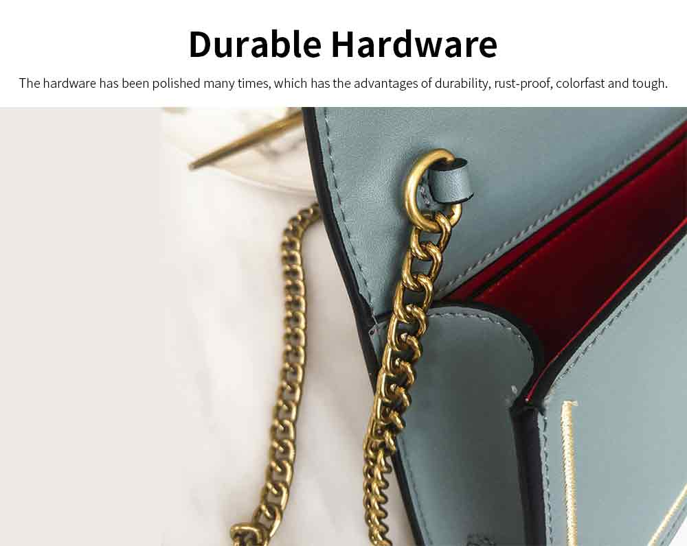 Vintage Embroidery Small Women Bag with Metal Bee Decoration, Ladies Shoulder Bag Clutch Handbag with Metal Chain 2