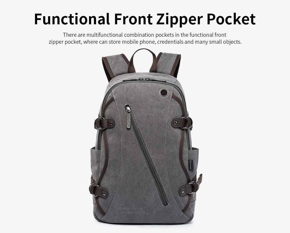 Fashion Vintage Canvas Men Laptop Backpack Messenger Shoulder Bag, Large Capacity Travel Bag Computer Notebook School Bag 6