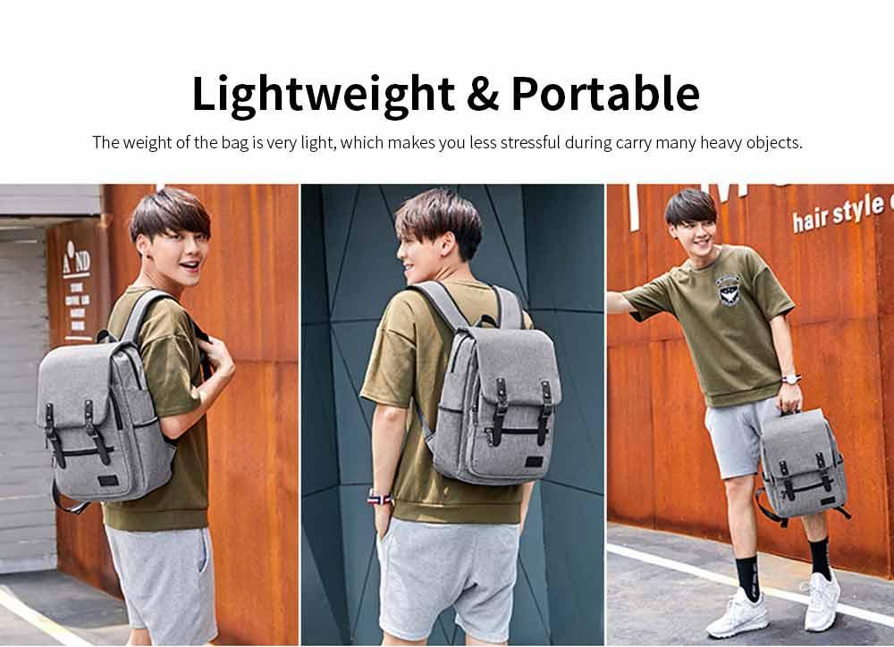 Oxford Cloth Casual Students Backpack, Fashion Minimalist Shoulder Bag Laptop Bag Travel Bag 7