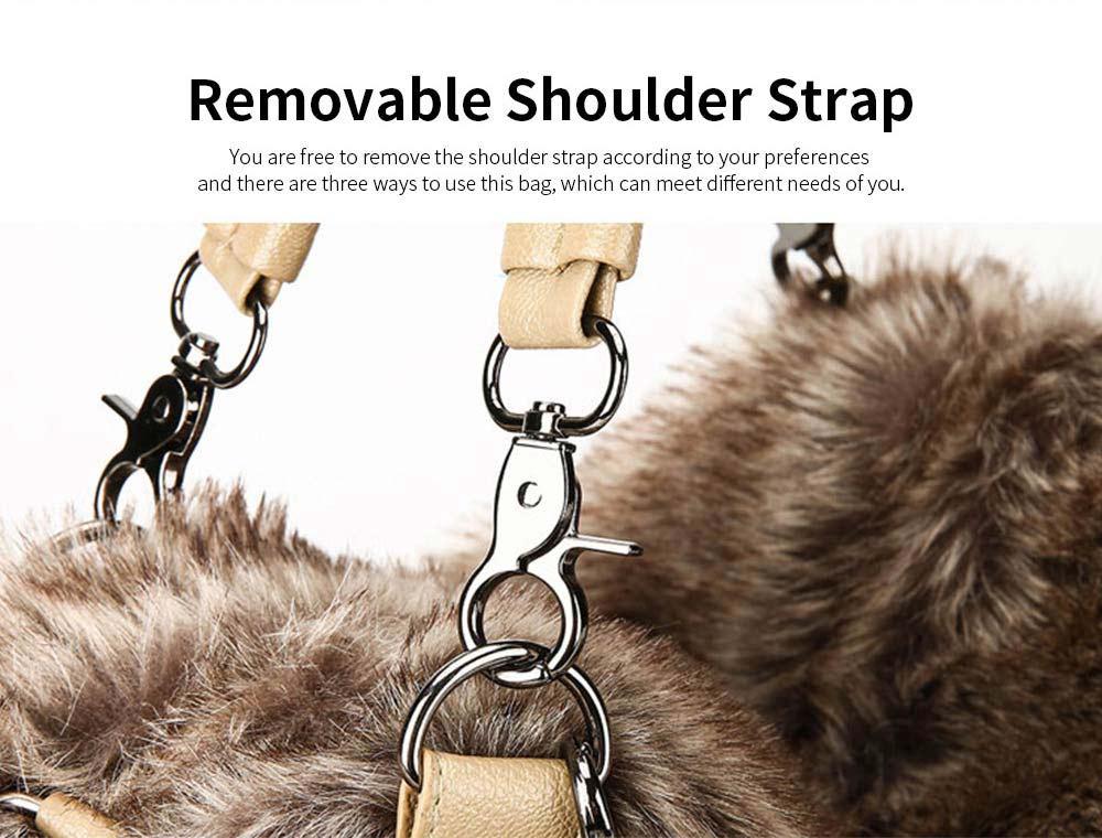 Luxury Fashion Warm Plush Women Bag with Three Methods of Use, Tote Messenger Crossbody Shoulder Bag Satchel Handbag 3