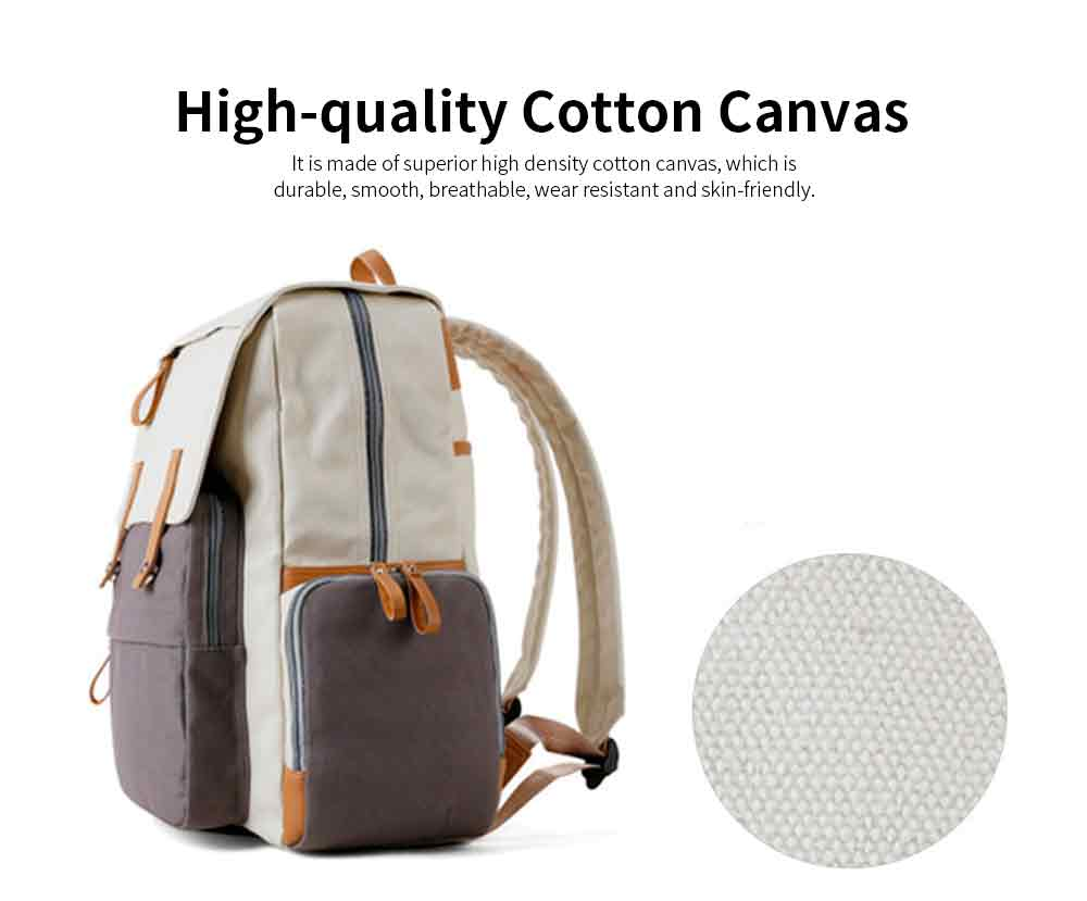 Multifunctional Tactical Pouch Cotton Canvas Backpack, Minimalist Casual Travelling Bag Laptop Bag, Large Capacity 1