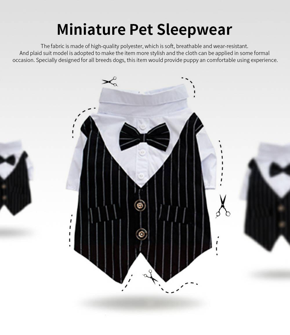 Miniature Pet Sleepwear Clothes, Stylish Four Season Small Dog Thin Pet Clothes 0