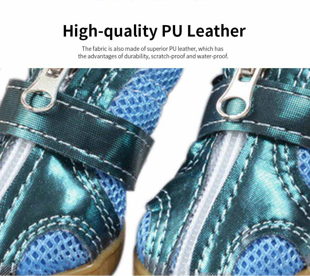 Fashion Nets Villus Dog Shoes Pet Boots for Small Dogs, Breathable Pet Boots with Durable Gum Outsole 2