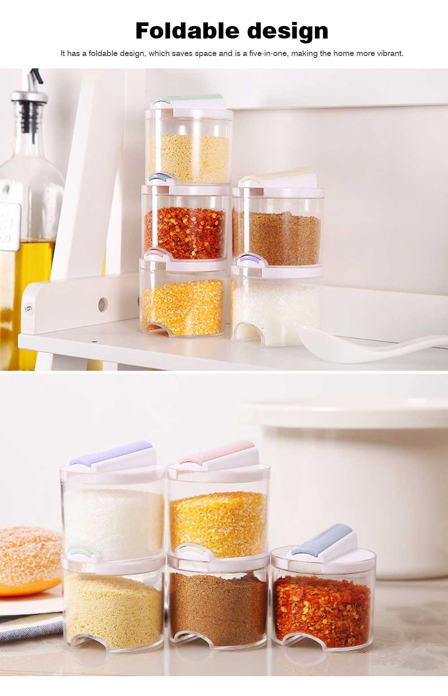 Barbecue Seasoning Bottle Set, 5 Packs Seasoning Bottle for Placing Oil, Soy Sauce 1