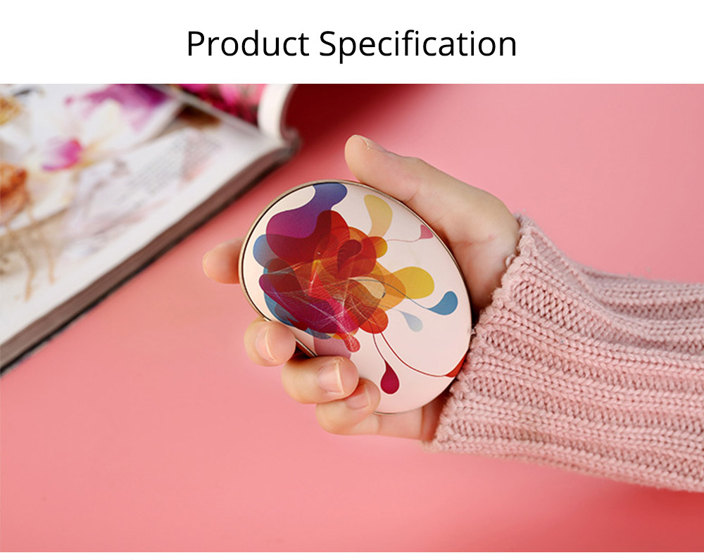 Large Capacity Colorful Vibration Massage Power Bank, USB Rechargeable Flower Pattern Blast-Proof Hand Warmer 8
