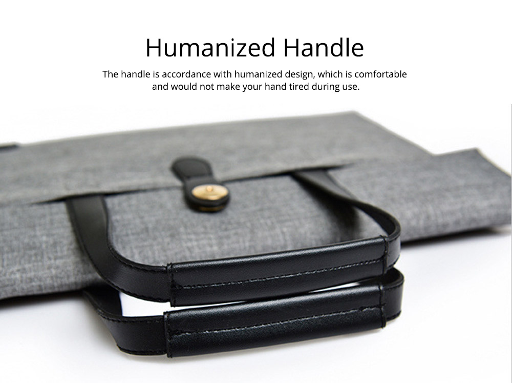 Business Waterproof Laptop Ultrabook Sleeve Case Bag Cover, Pouch Laptop Bag with Handle for Different Size of Computers 2