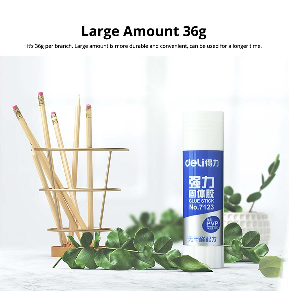 Large Amount 36g PVP Solid Glue Stick Strong Paper Adhesive, Formaldehyde-free 6