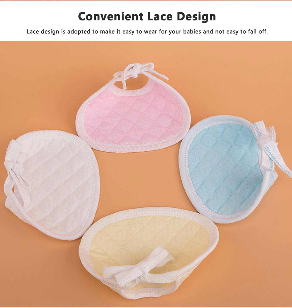 Luxury Soft Ecological Cotton Baby Bibs, Burp Bibs for Newborn Infants, Baby Feeding Head Scarf Towel with Lace 2