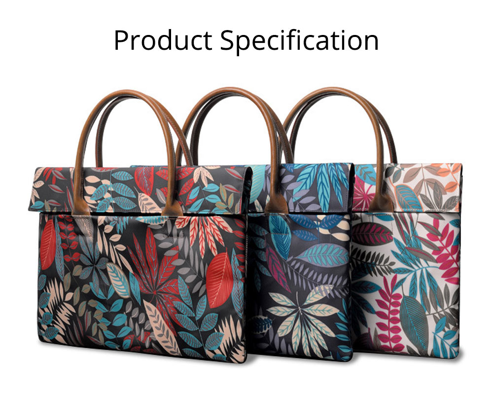 Water-proof Canvas Floral Pattern Laptop Ultrabook Sleeve Chase Bag Cover, Pouch Laptop Bag for Different Size of Computers 20