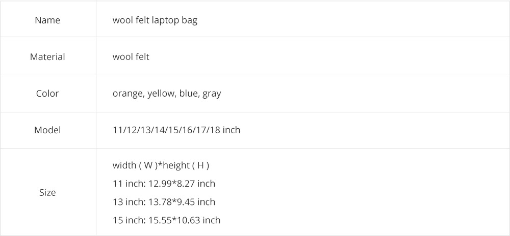 Soft Smooth Imported Wool Felt Tablet Laptop Protective Sleeve, Stylish Laptop Notebook Bag with Protective Belt 17