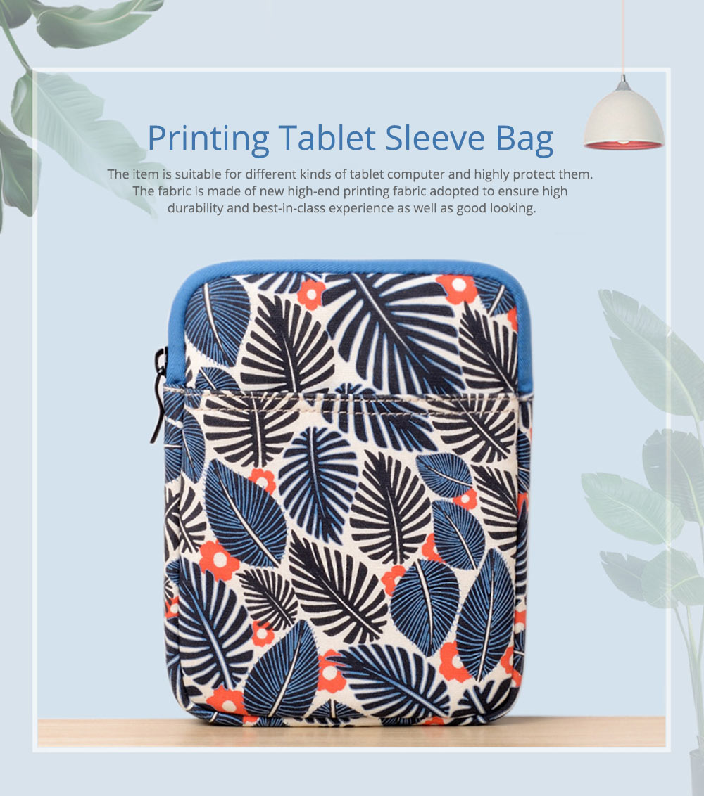 Portable Tablet Computer Sleeve Bag for iPad , Thicken Printing Shock-proof Break-proof Tablet Accessories 0