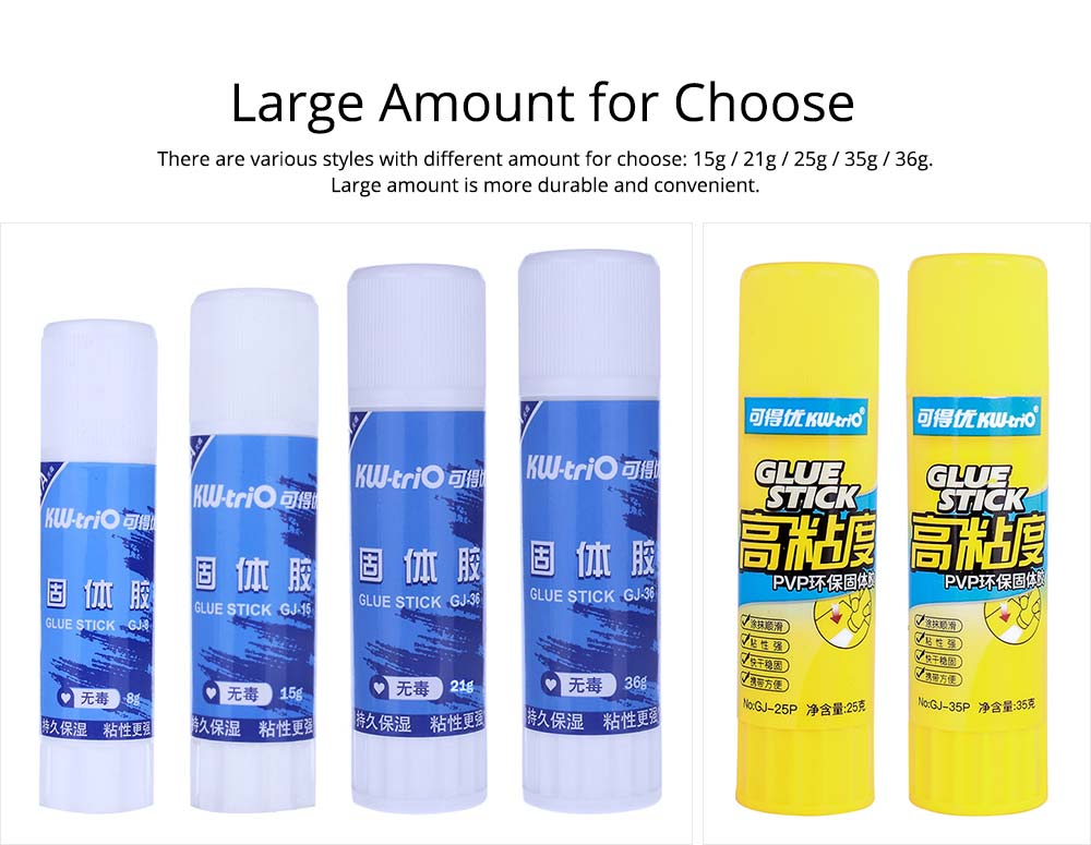 Large Amount PVA/PVP Solid Glue Stick Strong Glue Adhesive Solid Gum Office School Supplies 7