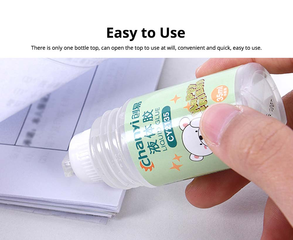 Environmental PVA Washable Transparent Viscose Liquid Glue Water, 35ml Children's Cute Office Supplies 4