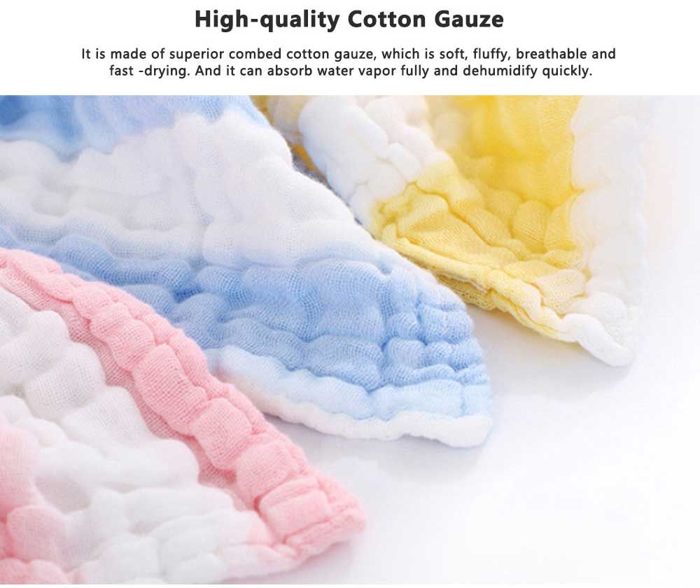 Gauze Cotton Baby Bath Towel, Soft Smooth Baby Blanket Infants Sleeping Wrap Blanket for Summer 1