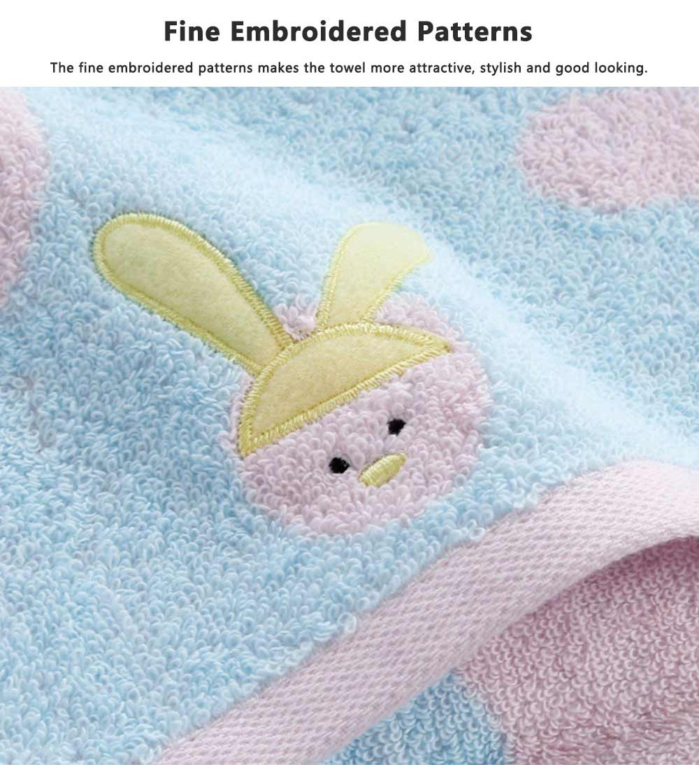 Stain Embroidery Cotton Towel, Luxury Smooth Face Washing Towel, Cute Face Towel with Cartoon Embroidery 4