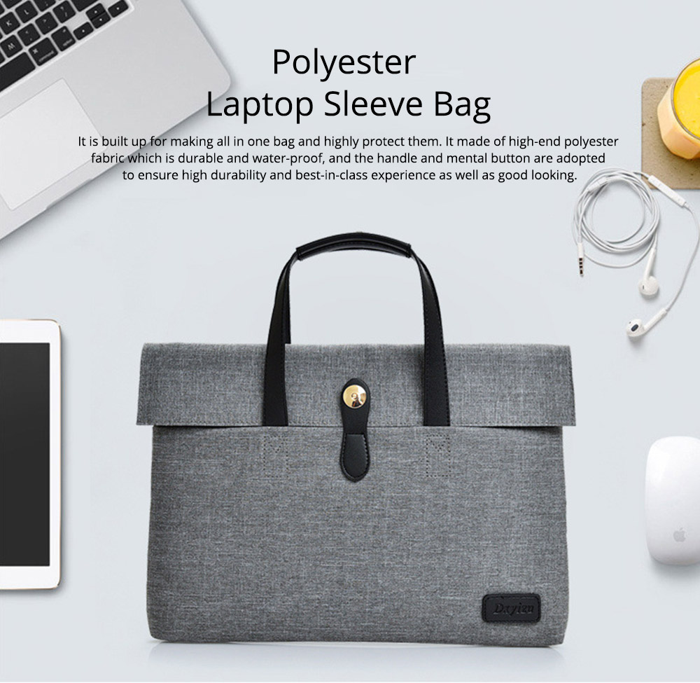Business Waterproof Laptop Ultrabook Sleeve Case Bag Cover, Pouch Laptop Bag with Handle for Different Size of Computers 0