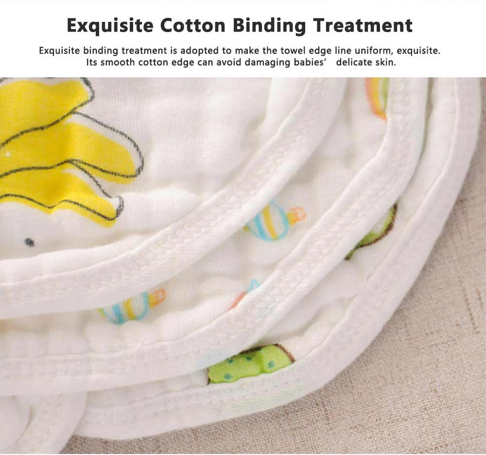Combed Baby Gauze Cotton Bibs 8 Layers, 360 Rotation Luxury Soft Cotton Bibs for Infants 2
