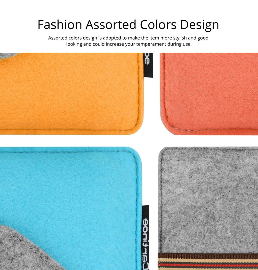 Soft Smooth Imported Wool Felt Tablet Laptop Protective Sleeve, Stylish Laptop Notebook Bag with Protective Belt 3