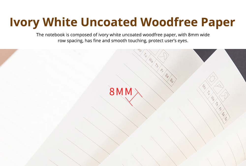 Loose-leaf Magnetic Buckle Notebook, Uncoated Woodfree Paper Binder, Modern Canvas Texture Leather, 160 Pages 3
