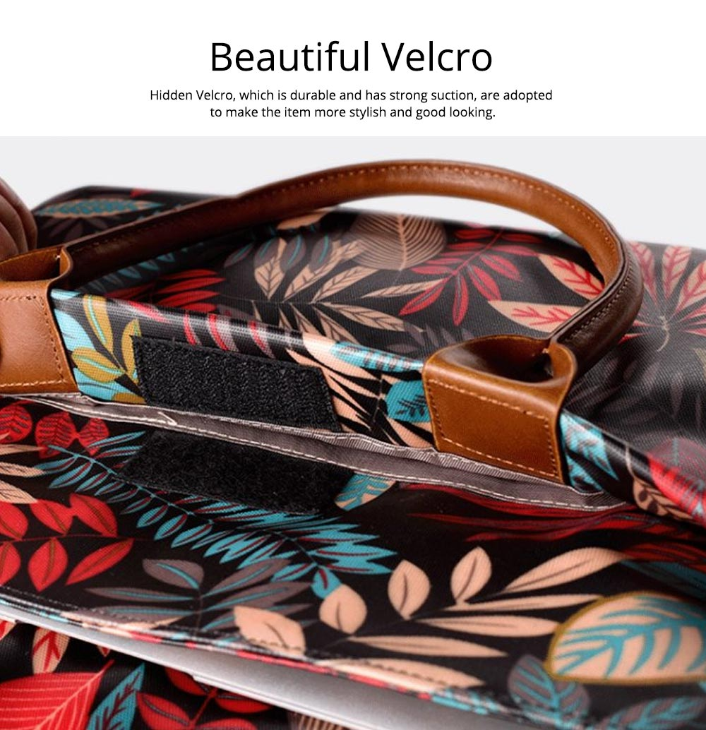 Water-proof Canvas Floral Pattern Laptop Ultrabook Sleeve Chase Bag Cover, Pouch Laptop Bag for Different Size of Computers 13