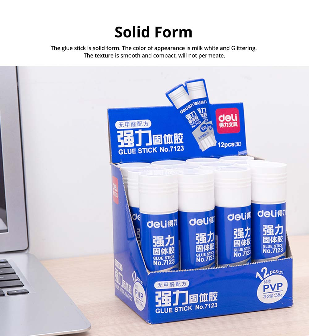 Large Amount 36g PVP Solid Glue Stick Strong Paper Adhesive, Formaldehyde-free 1