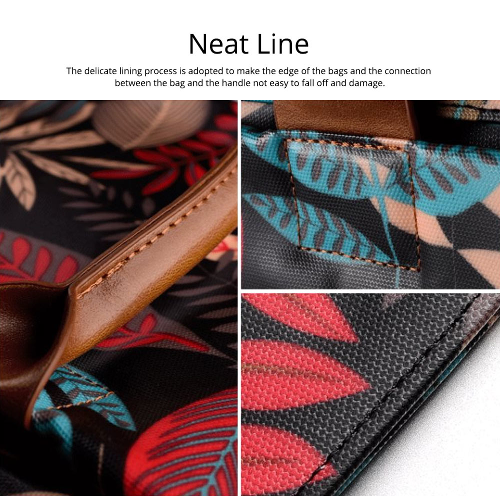 Water-proof Canvas Floral Pattern Laptop Ultrabook Sleeve Chase Bag Cover, Pouch Laptop Bag for Different Size of Computers 14