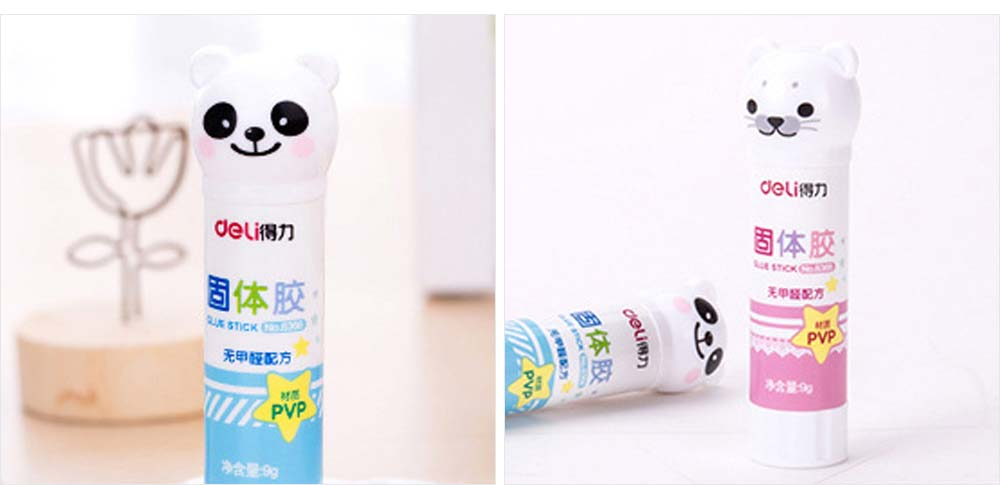 Cute Cartoon PVP Solid Glue Stick, Strong Paper Adhesive School & Office Supplies, 9g 2