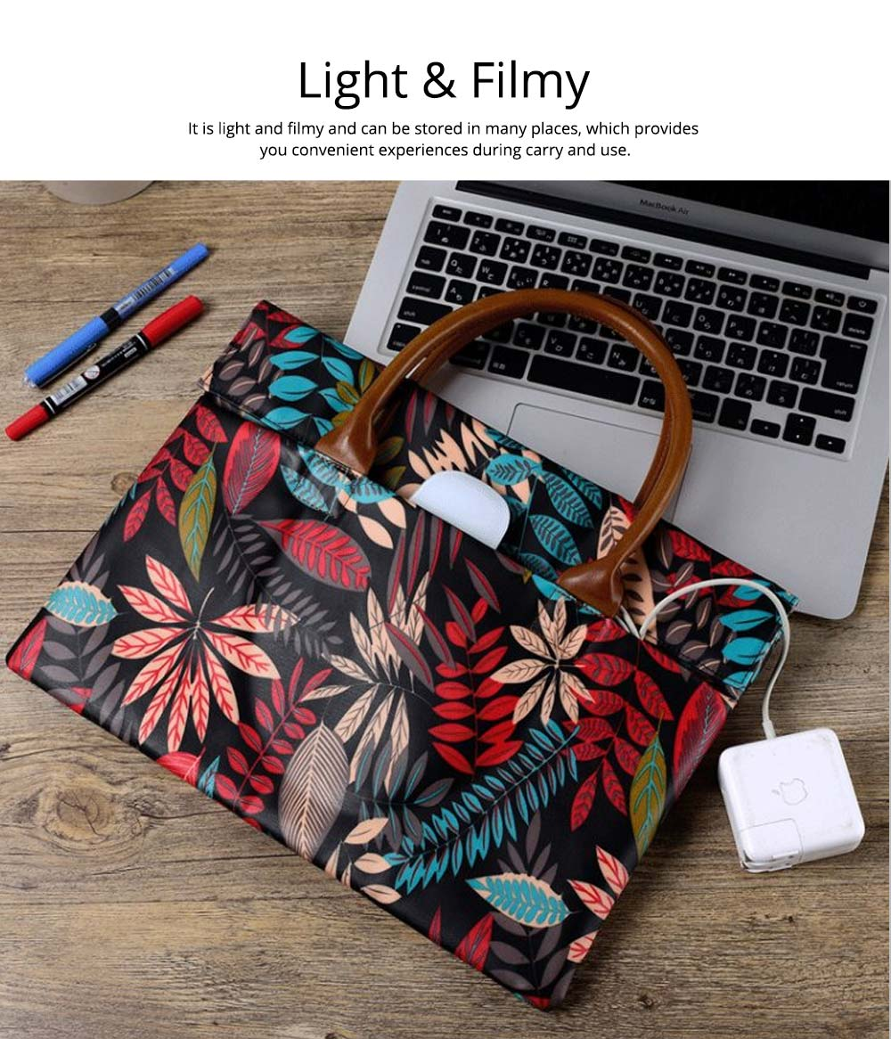 Water-proof Canvas Floral Pattern Laptop Ultrabook Sleeve Chase Bag Cover, Pouch Laptop Bag for Different Size of Computers 16