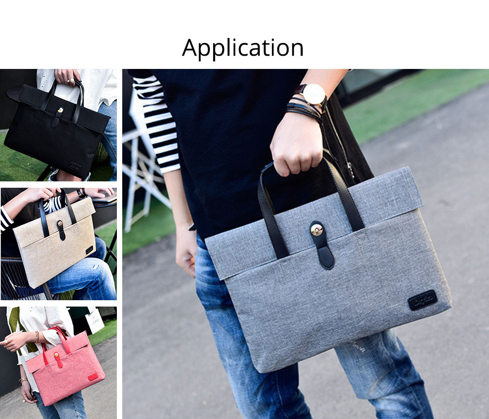 Business Waterproof Laptop Ultrabook Sleeve Case Bag Cover, Pouch Laptop Bag with Handle for Different Size of Computers 8