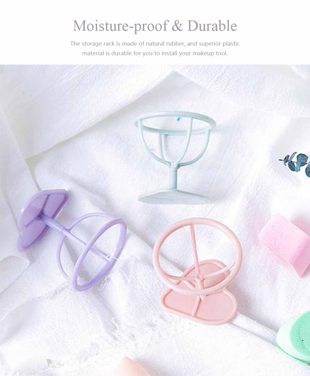 Breathable Moisture-proof Storage Rack, Beauty Egg anti-mildew Bracket For Drying Cotton Pad Storage 3