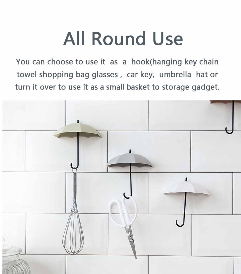 Umbrella Wall Hooks, Cute Little Sticky Hanging Hooks for Hat Purse Key Storage (3 packs) 7