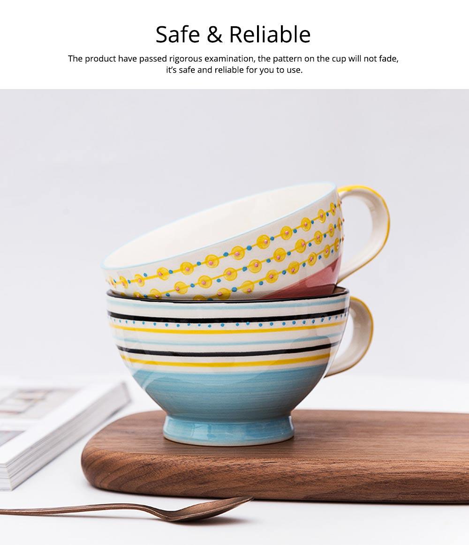 Ceramic Breakfast Mug, Large Capacity Porcelain cup for Water Juice Tea Food 14