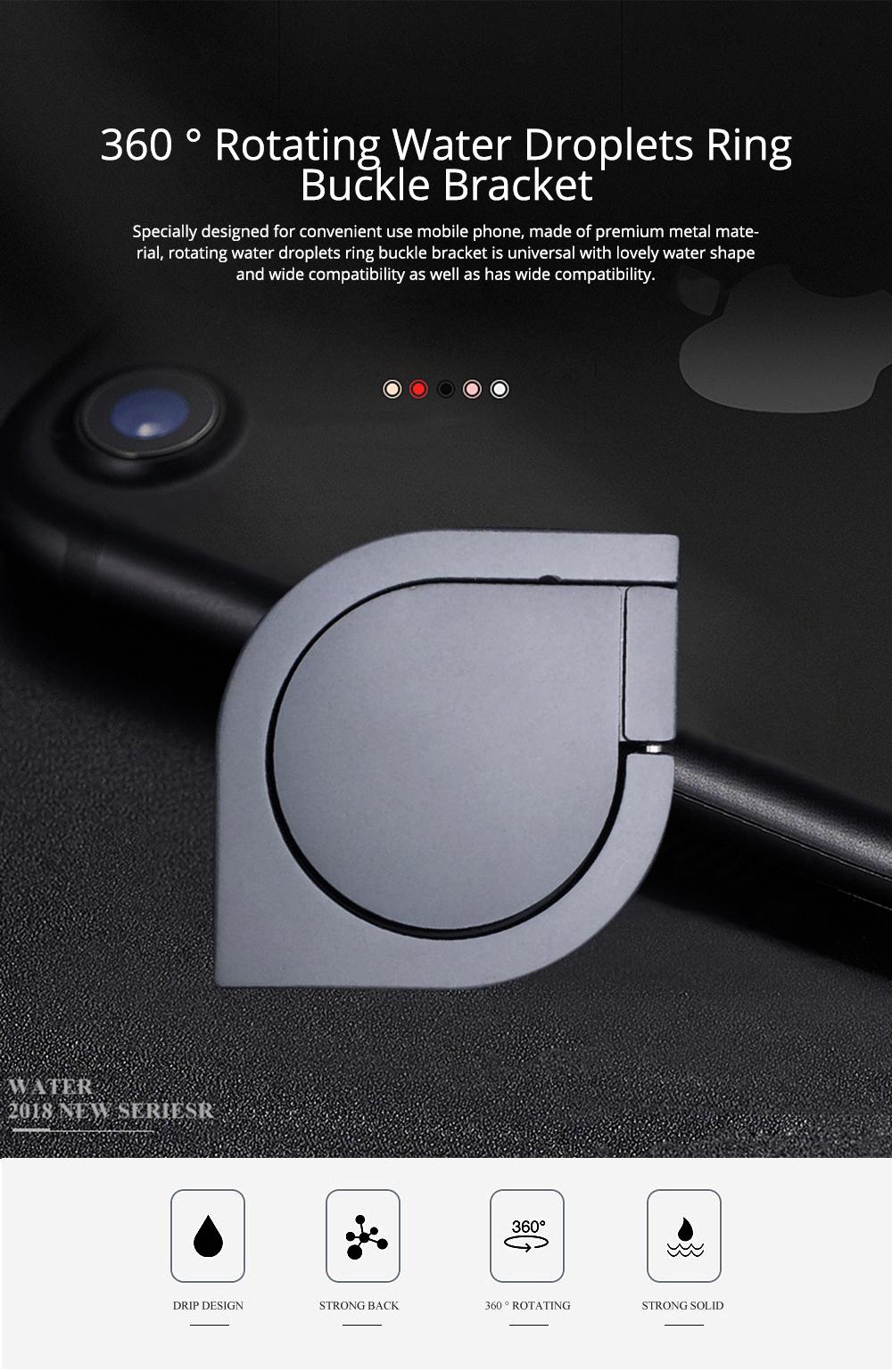 360 ° Rotating Water Droplets Ring Buckle Bracket, Car Metal Finger Buckle Phone Ring Holder 0