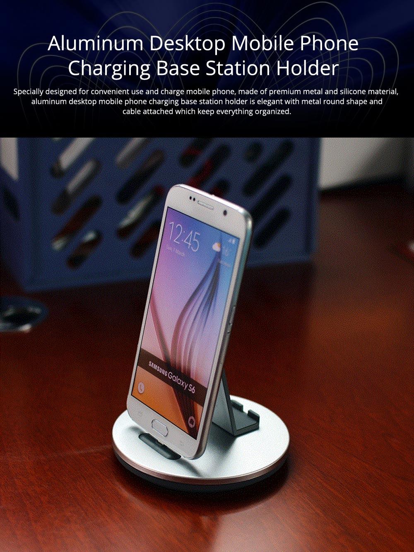 Aluminum Desktop Mobile Phone Charging Base Station Holder for Apple Android Smart Phone 0