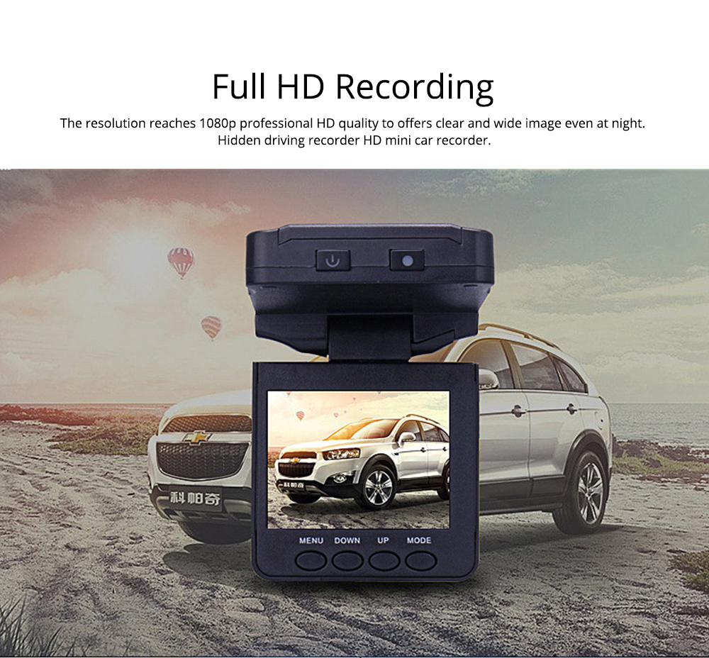 Aircraft Head Driving Recorder, Wide-angle Infrared Night Vision HD No Leakage Seconds as Mini Car Recorder 1