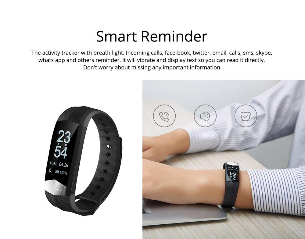 Blood Pressure and Heart Rate Bracelet, Electrocardiogram Smart Bracelet with Multiple Languages for PPG+ECG Electrode type 4