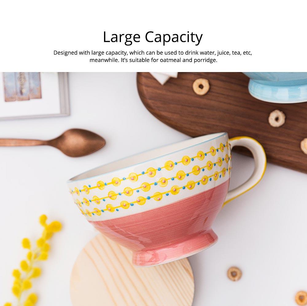 Ceramic Breakfast Mug, Large Capacity Porcelain cup for Water Juice Tea Food 11