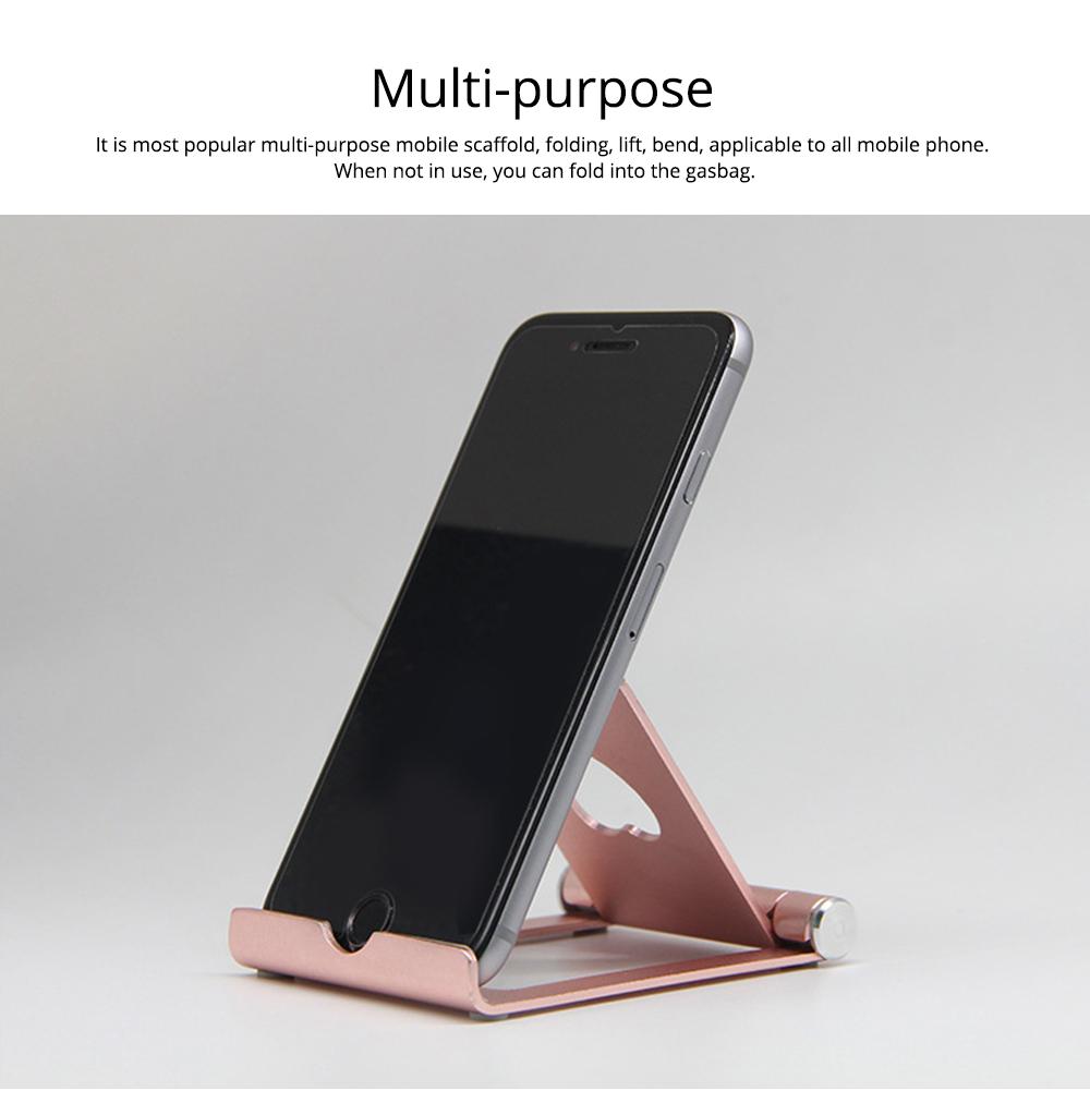 Aluminum Alloy Desktop Phone Holder, Universal Adjustable Foldable Mobile Phone Holder Stand for Live 1
