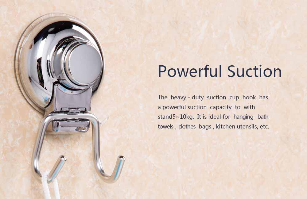 Bathroom Shower Towel Hook, Kitchen Wall Hanger, Stainless Steel Heavy Duty Hook 2